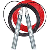 KDG Jump Rope, Speed Skipping Rope with Self-Locking and Screw-Free system, Double Anti-wear Pipes & Cables, for Boxing MMA F