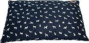 MOG & BONE Futon Dog Bed Blue Designer Dog Print Large