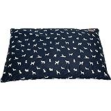 MOG & BONE Futon Dog Bed Blue Designer Dog Print Small