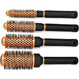 CCbeauty Professional Roller Hair Brush Round Set Detangling Nylon Bristles,Barber Supplies Comb Set for Hair Blow Drying,Sty