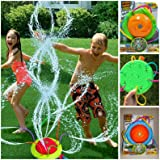 Light Show Spinning Sprinkler Tidal Storm Wiggle Tubes Lights Up Battery Powered The Color Available at The time is What Ship