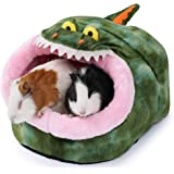 JanYoo Rabbit Rat Hideout Bed Hut Rat Accessories Cube Igloo House Hideaway Sleeper