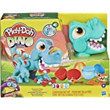 Play-Doh - Dino Crew Crunchin' T-Rex - Toy Dinosaur for Boys and Girls with Funny Dino Sounds and 3 PlayDoh Eggs (70g Non-Tox