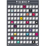 Gift Republic 100 Movies - Scratch Off Bucket List Poster