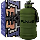 FUNUS Big Water Bottle 1.3-2.2L Water Bottle Huge Big Leak Proof BPA Free Large Water Jug for Workout Fitness Gym Outdoor Hik