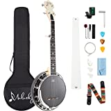 Mulucky 5 String Banjo MINI - Remo Drumhead Closed Solid Back With Beginning Kit Tuner Strap Wrench Picks - B803