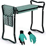 Garden Kneeler And Seat - Protects Your Knees Clothes From Dirt & Grass Stains - Foldable Stool For Ease Of Storage - EVA Foa