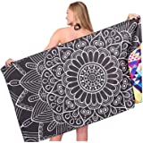 Sand Free Travel Beach Towel Blanket-Quick Fast Dry Super Absorbent Lightweight Thin Microfiber Towels for Pool Swimming Bath