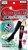 スリムウォーク (SLIM WALK) 美脚ソックスナチュラルfeel SMサイズ ソックス おそと用 着圧 ブラック