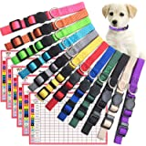 The Creativehome Puppy ID Collar Identification Soft Nylon Adjustable Breakaway Safety Whelping Litter Collars for Newborn Pe