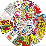 Performance Art KEITH HARING Sticker Pack of 50 Stickers - The Office Stickers for Laptops, The Office Stickers for Laptops,