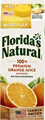 Florida's Natural NFC Growers Style Orange Juice (Most Pulp), 1.5L - Chilled
