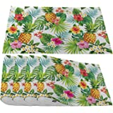 Moslion Pineapples Placemats,Summer Hawaiian Aloha Tropical with Fruit Palm Leaves and Flowers Place Mats for Dining Table/Ki
