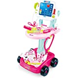 Doctor Kit Pretend Play Toy Nurse Medical Playset Role Play Game Hospital Care Cart Great Teaching Toy for Kids Girls Boys