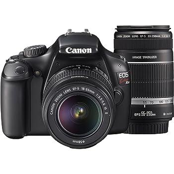 Canon デジタル一眼レフカメラ EOS Kiss X50 ダブルズームキット EF-S18-55mm/EF-S55-250mm付属 ブラック KISSX50BK-WKIT