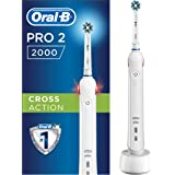 Oral-B Pro 2 2000N CrossAction Electric Rechargeable Toothbrush, 1 Handle, 2 Modes: Daily Clean and Sensitive, Gum Pressure S