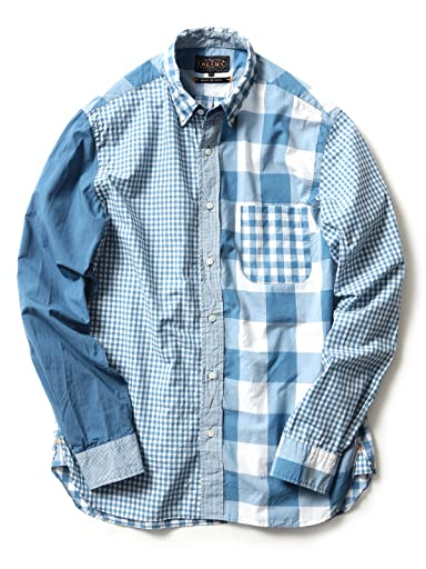 Beams Plus Indigo Crazy Pattern Buttondown Shirt 11-11-2476-139
