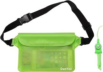 Danyee 防水ポーチ 防水ケース [一年間品質保証] 3重チャック PVC素材 (ブルー) 海水浴 プール 釣り バイク ウエストバッグ 防水パック 携帯