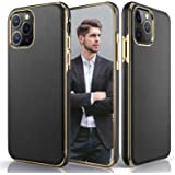 LOHASIC Design for iPhone 11 Pro Max Case, Luxury Leather Ultra Slim Business Style Flexible Soft Grip Full Body Protective C