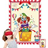 Funnlot Carnival Games Carnival Party Games Pin The Nose on The Clown Circus Theme Games Carnival Party Supplies Decorations