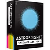 "Astrobrights Mega Collection, Colored Paper, ""Brilliant"" 5-Color Assortment, 625 Sheets, 24 lb/89 GSM, 8.5"" x 11 - More Sheet"