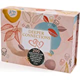 Deeper Connections: Card Game for Couples | 200 Meaningful Conversation Starters to Connect & Reconnect | Fun Conversation Ca