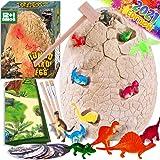 Dinonano Jumbo Dinosaur Egg Toys for Kids - Dino Egg STEM Toy Night Light Dinosaur Figures Surprise Gift Box Cool Science Too