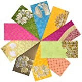 PARTH IMPEX Shagun Gift Envelope (Pack of 10) Assorted Color Designs Money Holder Fancy Packet for Christmas Diwali Easter Bi