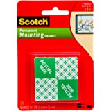 Scotch Permanent Mounting Squares 2.5cm x 2.5cm 111P (Pack of 16)