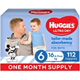 Ultra Dry Nappies Boy Size 6 (16kg+) 1 Month Supply 112 Count