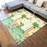Infant Shining Playmat Baby Play Mat Foldable King Size Reversible 200x180cm, Non Toxic XPE Foam Waterproof for Kids (Giraffe