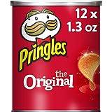 Pringles The Original Potato Crisps, Salty Snacks, School Lunch Food, Single Serve, 1.3 oz Can, Pack of 12