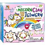 YOFUN Make Your Own Unicorn Clay Jewelry - Unicorn Craft Kits for Girls, Jewelry Making Kits for Children, Arts and Crafts fo