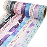 (Floral Patterns 1) - Washi Tape 10m Long Each Roll DIY Japanese Masking Tape Decorative Masking Tape Scrapbooking Tape for A