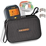 Inkbird WiFi Digital BBQ Meat Thermometer IBBQ-4T with 4 Probes Rechargeable Battery + Waterproof Carrying Case for BBQ Kitch