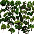 NW 32pcs 0.79-6.30inch Mixed Model Trees Accessories Model Train Scenery Architecture Trees Model Scenery with No Stands(All