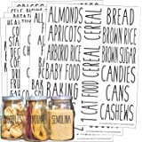 Talented Kitchen 136 All Caps Pantry Labels – 136 Main Ingredients – Food Pantry Label Sticker. Water Resistant Food Jar Labe