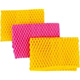 Innovative Dish Washing Net Cloths / Scourer - 100% Odor Free / Quick Dry - No More Sponges with Mildew Smell - Perfect Scrub