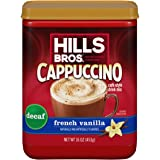 Hills Bros. Instant Cappuccino Mix, Decaf French Vanilla Cappuccino–Easy to Use, Enjoy Coffeehouse Flavor at Home-Decadent Ca