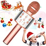 TRONICMASTER Wireless Karaoke Microphone Bluetooth, 3 in 1 Wireless Portable Handheld Mic Karaoke Machine for Christmas Home