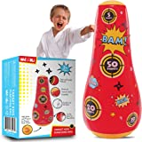 whoobli Target Inflatable Kids Punching Bag, Inflatable Toy Punching Bag for Kids, Bounce-Back Bop Bag for Play, Boxing, Kara