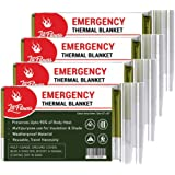 LIT FITNESS Emergency Blankets (Pack of 4) Thermal Blankets, Space Blanket Designed for Outdoors, Hiking, Survival, Marathons