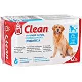Dogit 70507 Clean Disposable Dog Diapers 12 Pack, 12 Count X-Large