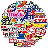 100PCS Racing Stickers Dirtbike Automotive Sticker Pack Car Brand Logo Vinyl Stickers Auto Waterproof Stickers and Decals for
