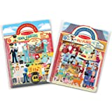 Melissa & Doug 93377 Puffy Sticker Activity Books Set: Cool Careers and Pet Place