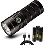 Sofirn BLF SP36 Rechargeable Flashlight, Brightest 4 LH351D LED 90 CRI Outdoor Search Torch, With 18650 Batteries and USB C C