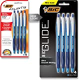BIC Atlantis Original Retractable Ballpoint Pen Medium Point (1.0 mm) - Blue, Pack of 4 Pens