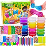 DIY Slime Kit for Girls Boys - Ultimate Glow in The Dark Glitter Halloween Slime Making Kit - Slime Kits Supplies Include Big