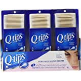 3 x Q-tips Cotton Swabs, 625 ct