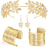 Coucoland Grecian Goddess Costume Accessories Womens Leaf Headband CoilBracelet